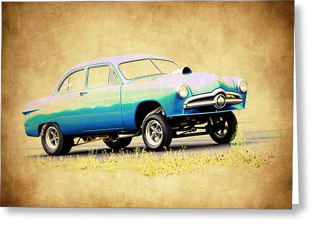 Graffitti Coupe Greeting Cards - Ford Gasser Greeting Card by Steve McKinzie