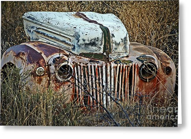 Rusted Cars Greeting Cards - Ford Gets a Facelift Greeting Card by Lee Craig