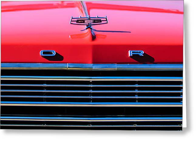 Collector Hood Ornament Greeting Cards - Ford Grille Hood Ornament Greeting Card by Jill Reger