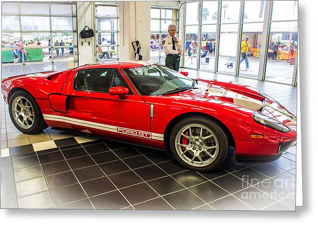 Carroll Shelby Greeting Cards - Ford GT 2005-2006 Greeting Card by Rene Triay Photography