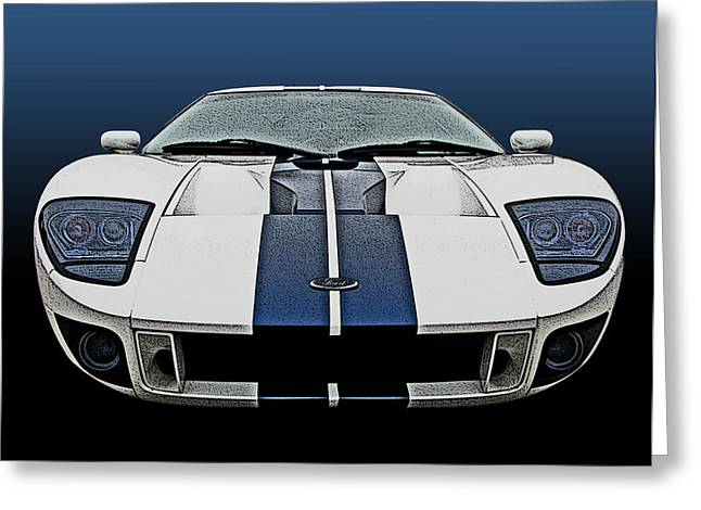 Ford Gt-40 Head On Greeting Card by Samuel Sheats