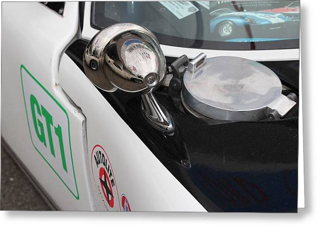Reflectio Greeting Cards - Ford GT 40 Wing mirror  Greeting Card by Robert Phelan