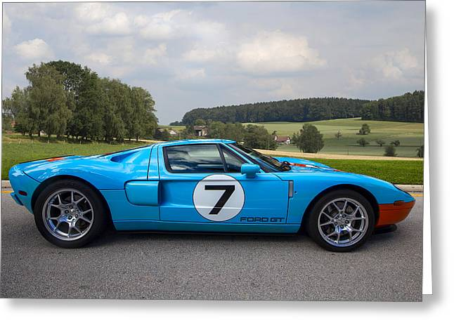 Racing Number Greeting Cards - Ford GT Greeting Card by Debra and Dave Vanderlaan