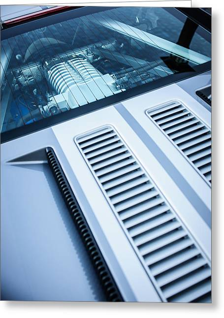 Ford Engine Greeting Cards - Ford GT Engine -0391c Greeting Card by Jill Reger