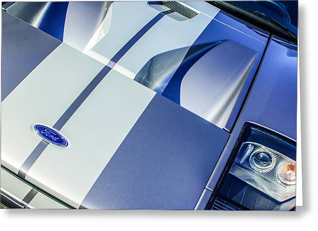 Jill Reger Photography Greeting Cards - Ford GT40 Hood Emblem -0305c Greeting Card by Jill Reger