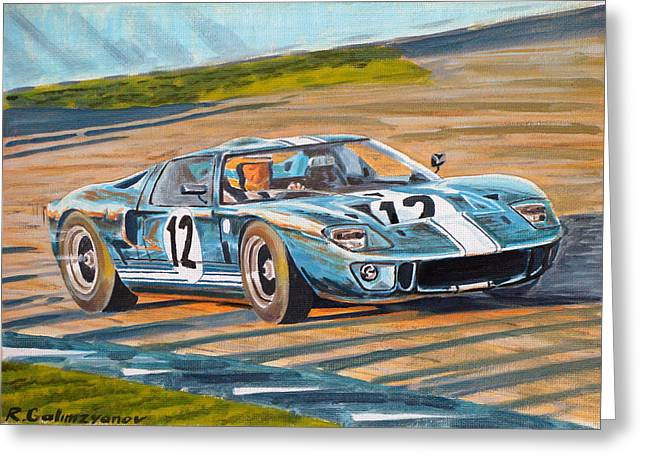 Ford Gt40 Greeting Card by Rimzil Galimzyanov