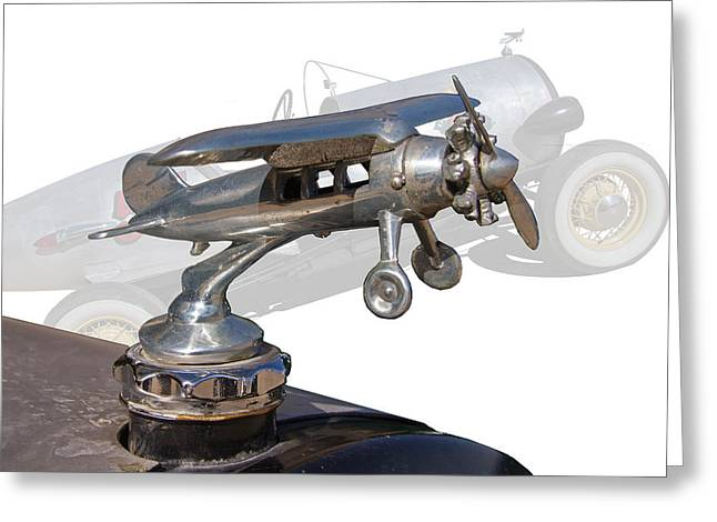 Figure Based Greeting Cards - 1928 Ford Hood Ornament Greeting Card by Nick Gray
