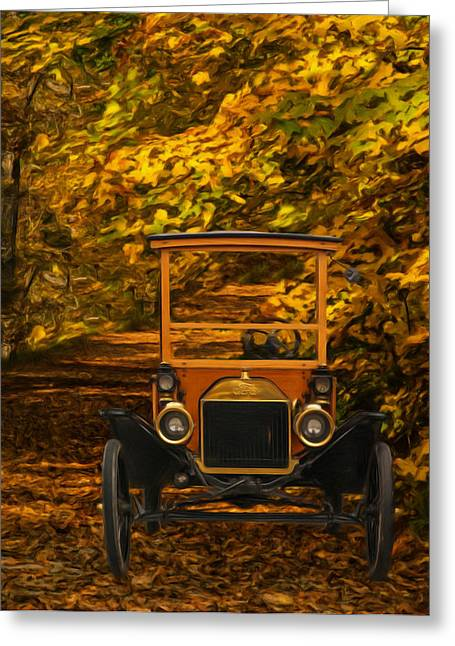 Ford Model T Car Greeting Cards - Ford Greeting Card by Jack Zulli