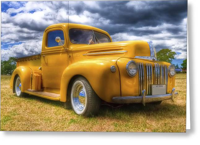 Aotearoa Greeting Cards - Ford Jailbar Pickup HDR Greeting Card by Phil