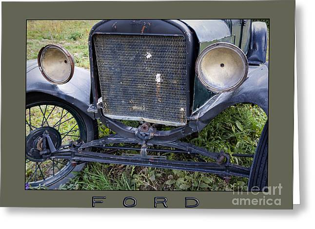 Ford Model T Car Greeting Cards - Ford Greeting Card by Janice Rae Pariza