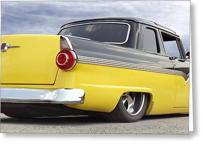 Lowrider Greeting Cards - Ford Lowrider at Roys Greeting Card by Mike McGlothlen