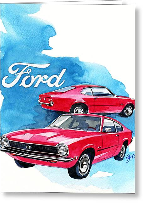 Maveric Greeting Cards - Ford Maveric Greeting Card by Yoshiharu Miyakawa