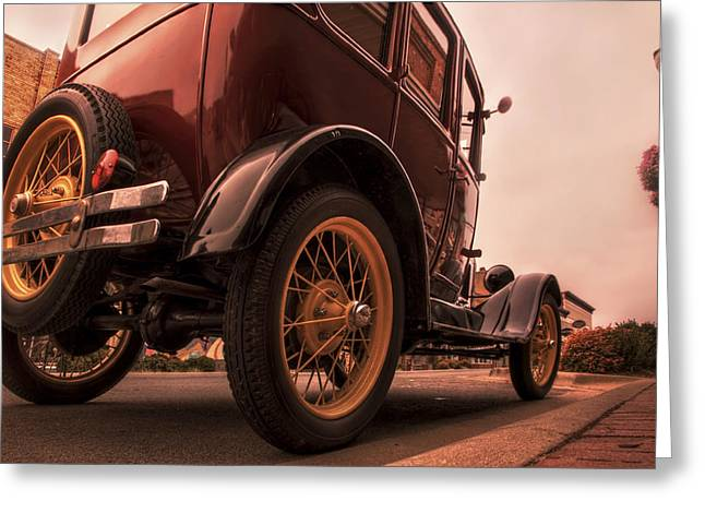Conway Arkansas Greeting Cards - Ford Model A - Classic Car - Antique Greeting Card by Jason Politte