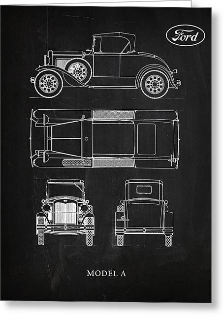 Ford Model T Car Greeting Cards - Ford Model A Greeting Card by Mark Rogan