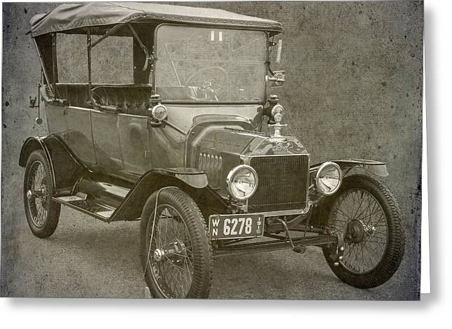 Ford Model T Car Greeting Cards - Ford Model T Greeting Card by Angie Vogel