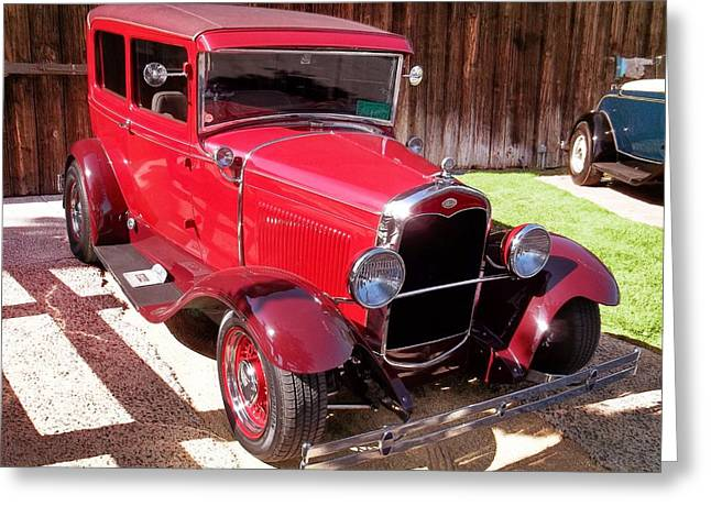 Ford Model T Car Greeting Cards - Ford Model T Tudor Sedan Greeting Card by Glenn McCarthy Art and Photography