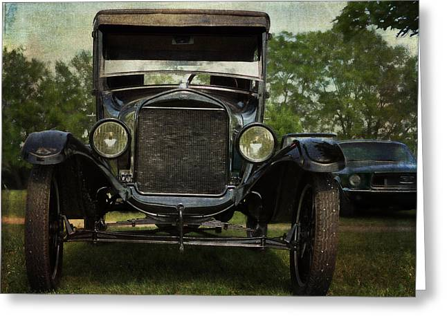 Ford Model T Car Greeting Cards - Ford Model T Vintage Car Greeting Card by Cat Whipple