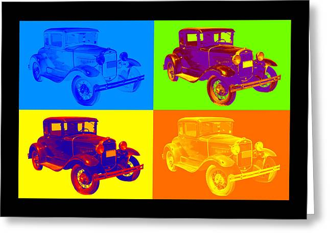 Ford Model A Greeting Cards - Ford Model A Roadster Pop Art Greeting Card by Keith Webber Jr