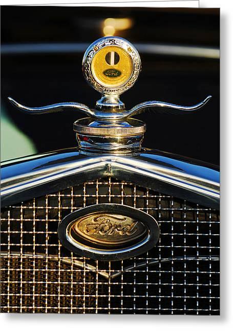 Motor Meter Greeting Cards - Ford MotoMeter Greeting Card by Jill Reger