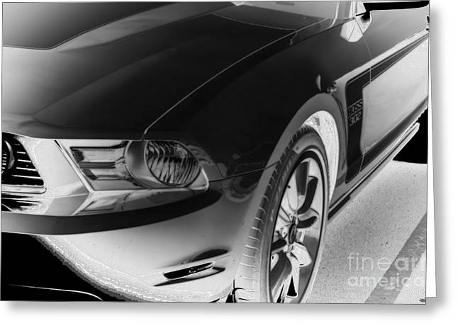 Editorial Mixed Media Greeting Cards - ford mustang Boss 302 Greeting Card by M and L Creations