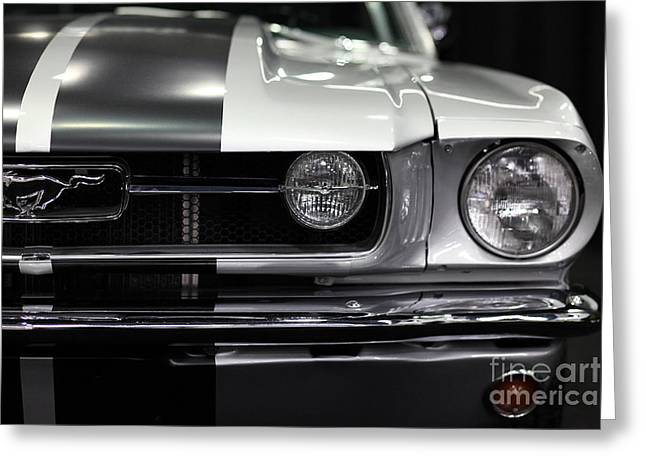 Landmarks Tapestries Textiles Greeting Cards - Ford Mustang Fastback - 5D20342 Greeting Card by Wingsdomain Art and Photography