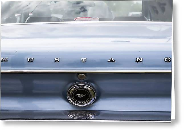 Beautiful Car Greeting Cards - Ford Mustang Rear Greeting Card by Nomad Art And  Design