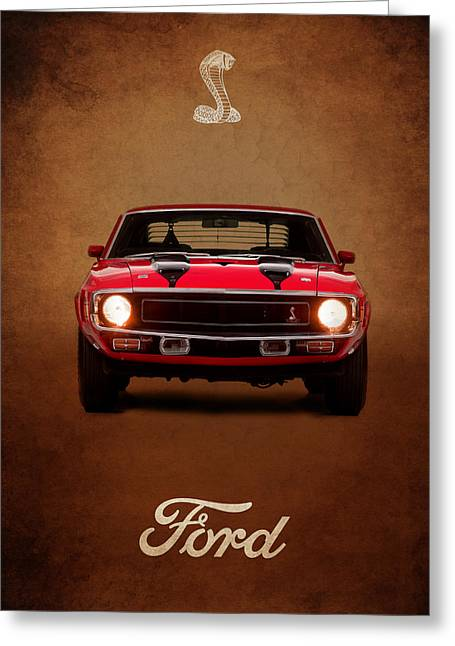 Ford Photographs Greeting Cards - Ford Mustang Shelby 69 Greeting Card by Mark Rogan