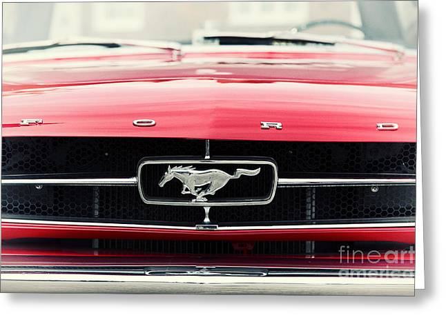 Front End Greeting Cards - Ford Mustang Greeting Card by Tim Gainey