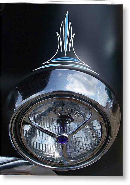Ron Roberts Photography Framed Prints Greeting Cards - Ford Pin striped headlight Greeting Card by Ron Roberts