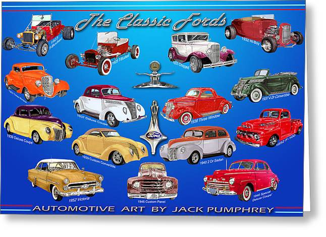 Camshaft Greeting Cards - Ford Poster Greeting Card by Jack Pumphrey