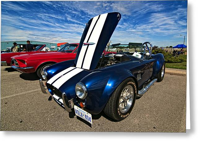 Ford Cobras Greeting Cards - Ford Power Greeting Card by Steve Harrington