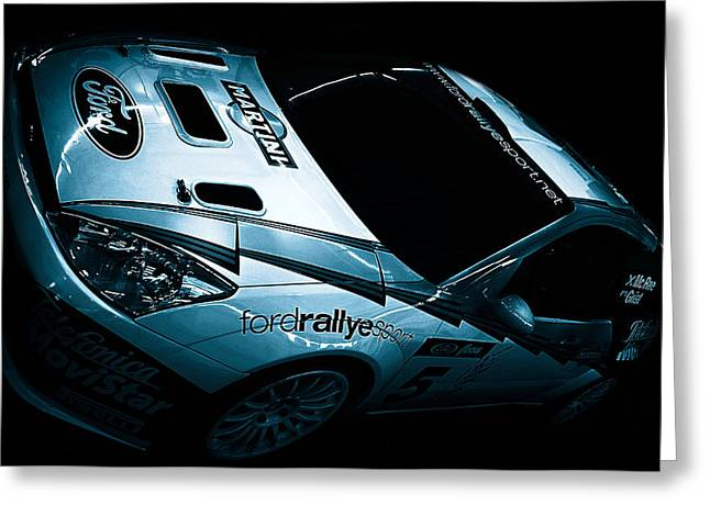 Rally Greeting Cards - Ford Rally Car Greeting Card by Martin Newman