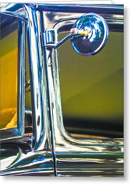 Rear View Mirror Greeting Cards - Ford Rear View Mirror Greeting Card by Jill Reger