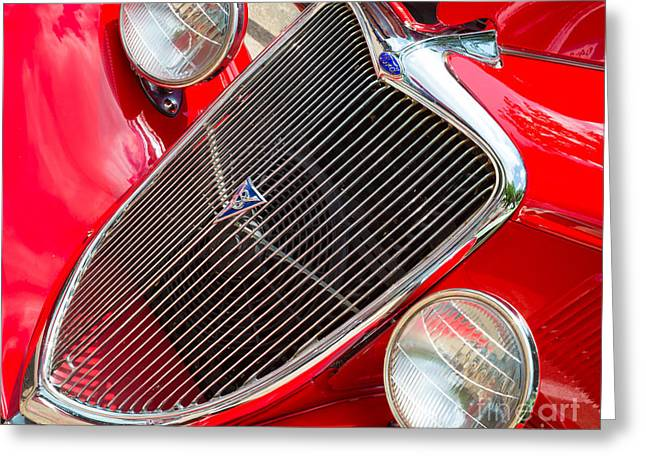 Headlight Greeting Cards - Ford Roadster V8 Greeting Card by Inge Johnsson
