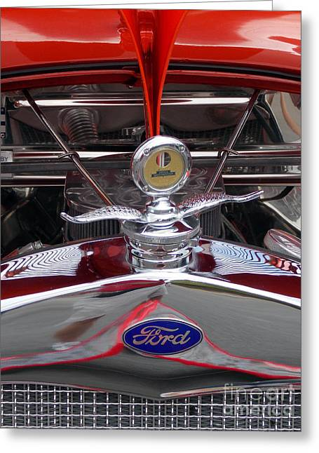 Car Part Greeting Cards - Ford Greeting Card by Skip Willits