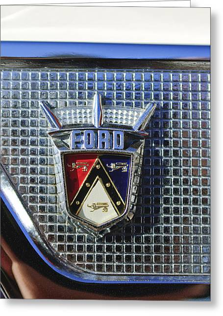 Ford Automobiles Greeting Cards - Ford Skyliner Emblem Greeting Card by Jill Reger