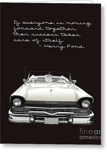 Henry Ford Greeting Cards - Ford Success Poster Greeting Card by Edward Fielding