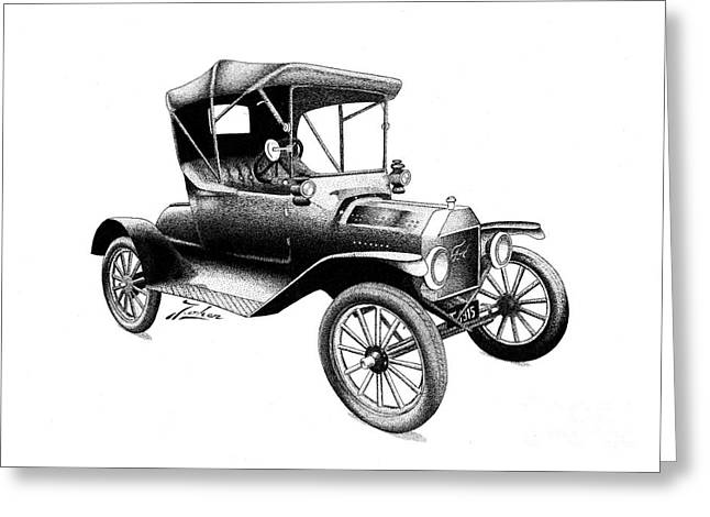 Valuable Drawings Greeting Cards - Ford T 1915 Greeting Card by Joker  Gallery