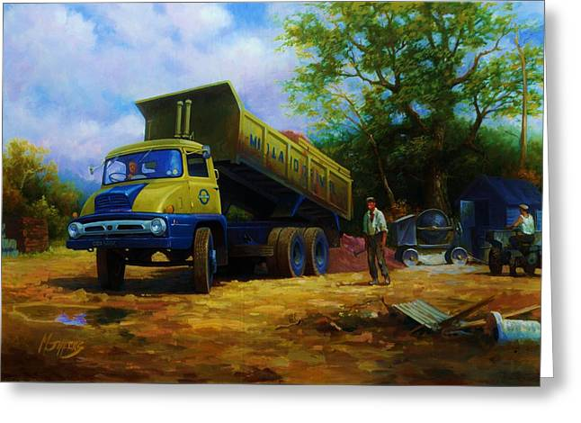 Lorries Greeting Cards - Ford Thames Trader Greeting Card by Mike  Jeffries