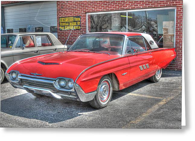 1963 Ford Greeting Cards - Ford Thunderbird 1963  Greeting Card by J Laughlin