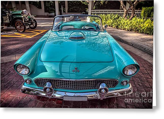 Adrian Evans Greeting Cards - Ford Thunderbird  Greeting Card by Adrian Evans