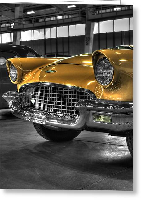 Ford Model T Car Greeting Cards - Ford Thunderbird Convertible Copper 2 Greeting Card by John Straton