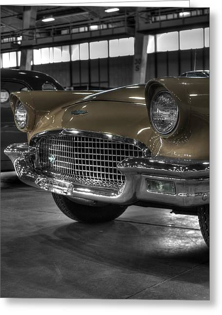 Ford Model T Car Greeting Cards - Ford Thunderbird Convertible Copper 3 Greeting Card by John Straton