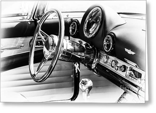 Bling Greeting Cards - Ford Thunderbird Interior Greeting Card by Tim Gainey
