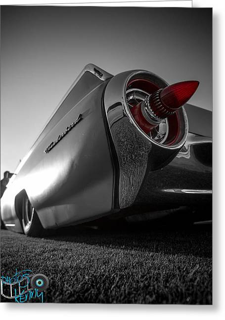 Kenny Jalet Greeting Cards - Ford Thunderbird Greeting Card by Kenny Jalet