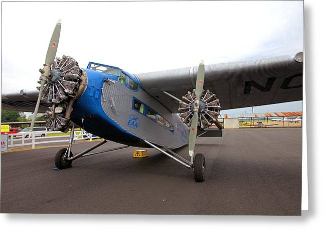 Ford Tri-motor Greeting Cards - Ford Tri-Motor Greeting Card by Gordon Elwell