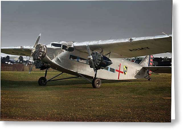 Ford Trimotor Greeting Cards - Ford Trimoter Vintage Aircraft Greeting Card by Tim Rutz