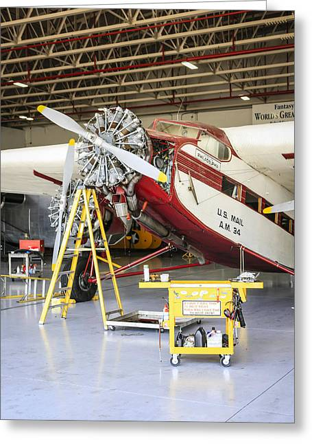 Tri-motor Greeting Cards - Ford TriMotor Greeting Card by Chris Smith