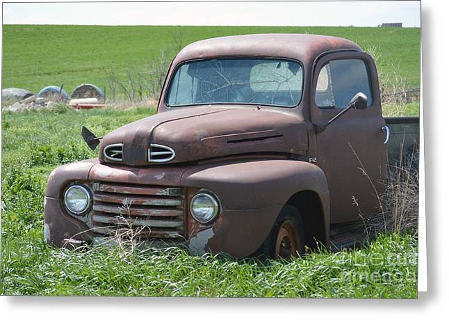 Ford Brown Print Greeting Cards - Ford Truck Greeting Card by Renie Rutten