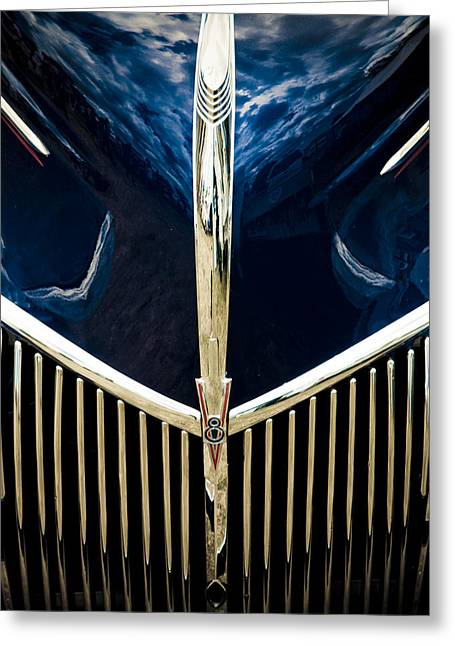 Phil Motography Clark Greeting Cards - Ford V8 Grill Greeting Card by Phil